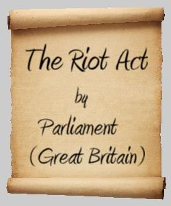 Cover Art for The Riot Act (1714)