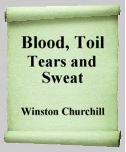 Cover Art for Blood, Toil, Tears and Sweat