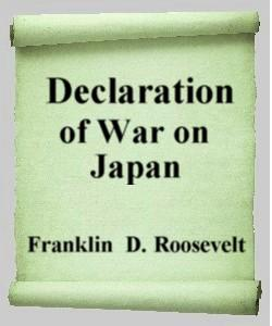 Cover Art for Declaration of War on Japan