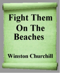 Cover Art for Fight Them on the Beaches