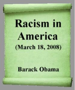 Cover Art for Racism in America:March 18, 2008