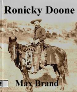 Cover Art for Ronicky Doone