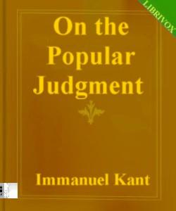 Cover Art for On the Popular Judgment:That may be R...