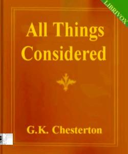 Cover Art for All Things Considered