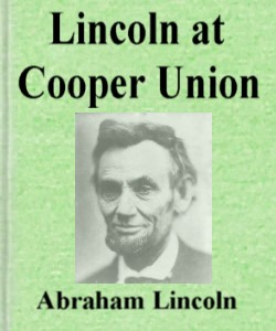 Cover Art for Lincoln at Cooper Union