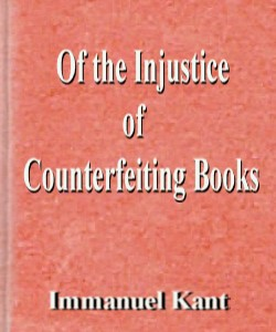 Cover Art for Of the Injustice of Counterfeiting Books