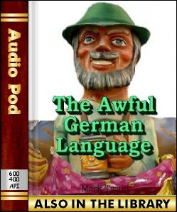 Audio Book The Awful German Language