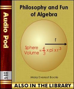 Audio Book Philosophy and Fun of Algebra