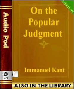 Audio Book On the Popular Judgment:That may be R...