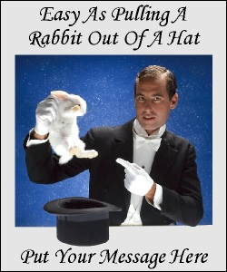 Advertisment The Rabbit out of the Hat